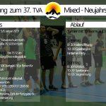 37. TVA Neujahrsturnier am 5. - 6.1.2019